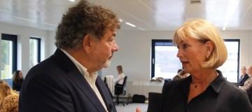 Tom van Apeldoorn (uitgever TravelPro) & Petra Kok (Persvoorlichter TUI Nederland).