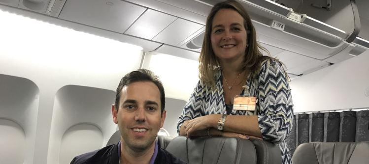 Wessel en Yvonne van Air Transat.