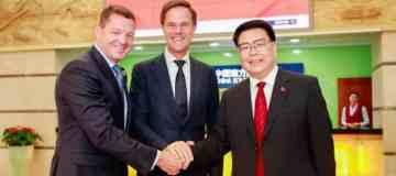 KLM CEO en premier Rutte bezoeken China Southern