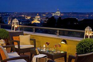 Sofitel Rome Villa Borghese men in terrazza a San Valentino