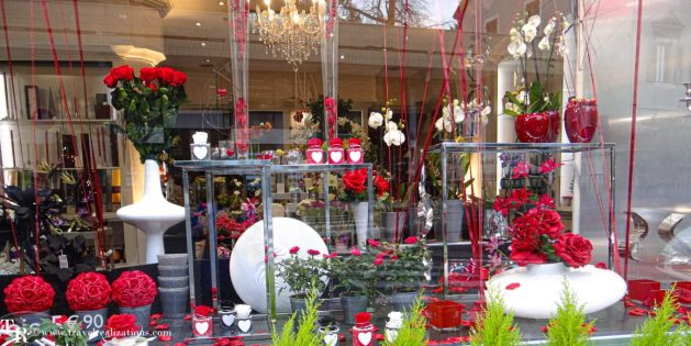 A day in the romantic French town of Evian, Travel Realizations, Flower shop