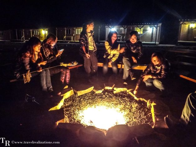 An exciting night in Hualapai Ranch in Grand Canyon, Arizona USA, Grand Canyon West Rim, Travel Realizations , campfire