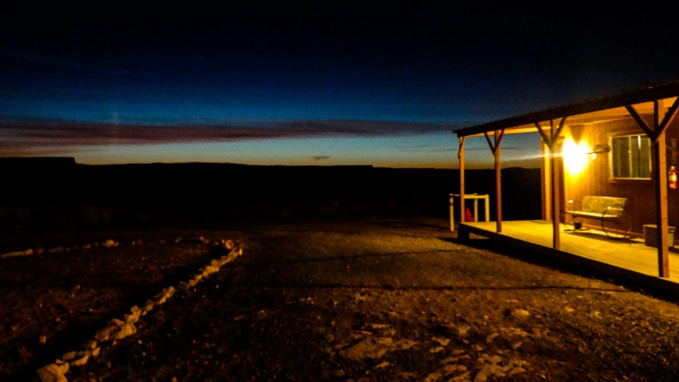 An exciting night in Hualapai Ranch in Grand Canyon, Arizona USA