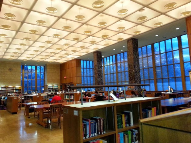 Main Hall of the Princeton Library.