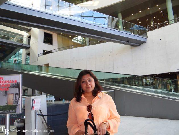 Black Diamond in Copenhagen, Denmark, the national library of Denmark and Copenhagen university, Travel Realizations