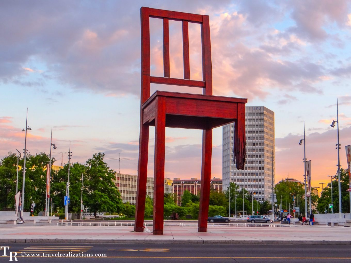 The Broken Chair - A symbol of peace in Geneva, Switzerland!