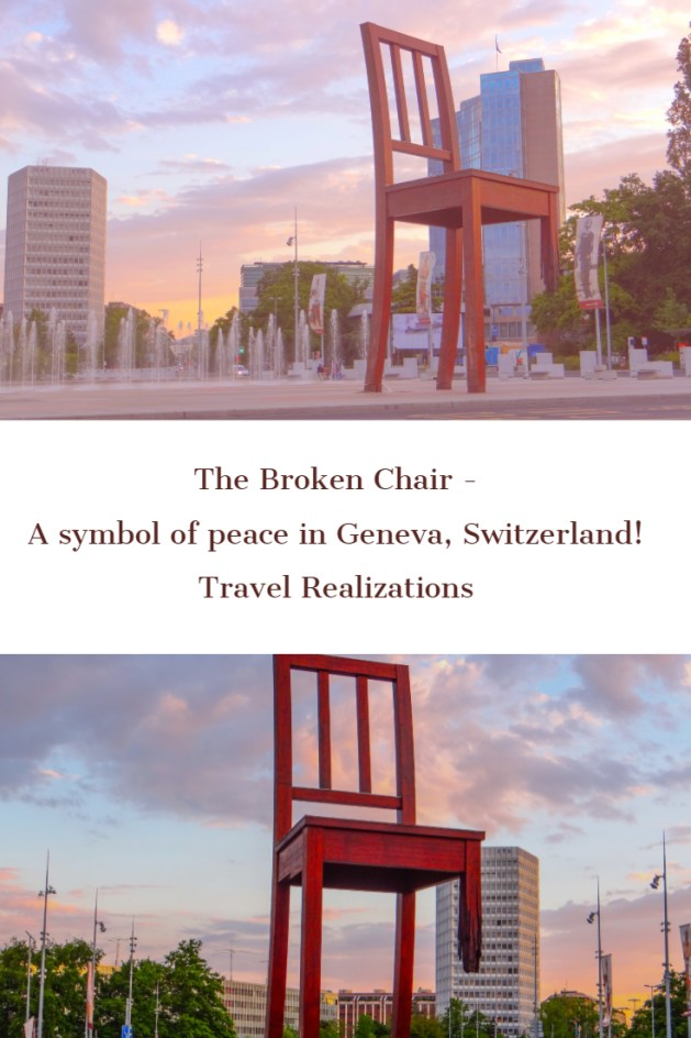 This 12 meter high, broken chair, in front of European headquarters of the United Nations in Geneva, Switzerland echoes a simple message; remember the victims of land mines, urge your government to promote a ban on land mines. #Travel #Switzerlad