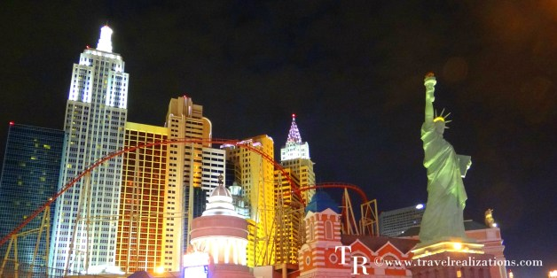 A night in glittering Las Vegas, USA –  The Casino capital!