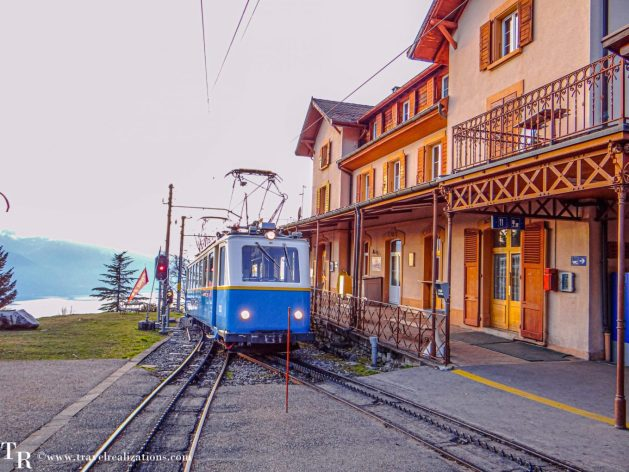A mountain Christmas Village in Caux, Switzerland, Travel Realizations