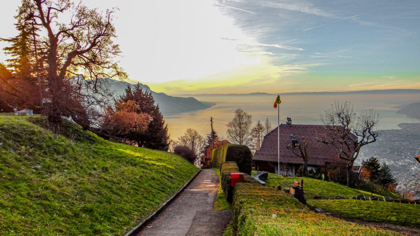 A mountain Christmas Village in Caux, Switzerland!