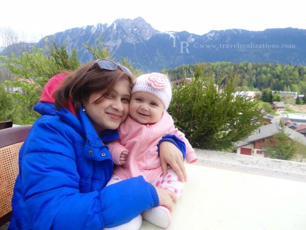 Myself with Chirantana in Leysin, Switzerland
