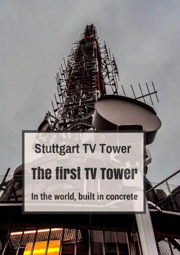 The Stuttgart TV tower (Fernsehturm Stuttgart) is the world's first telecommunication tower built from reinforced concrete. #Germany #Travel #Stuttgart #travelblog #traveltips