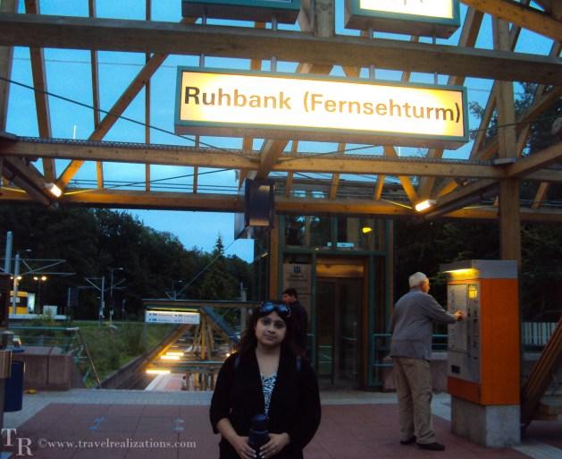 Travel Realizations, Ruhbank terminus, Stuttgart TV tower
