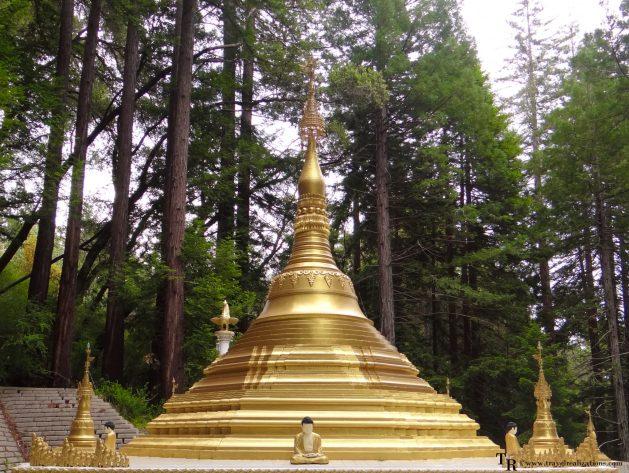 Travel Realizations, California, Buddha temple, Red wood Big basin state park, Taungpulu Kaba-Aye Monastery