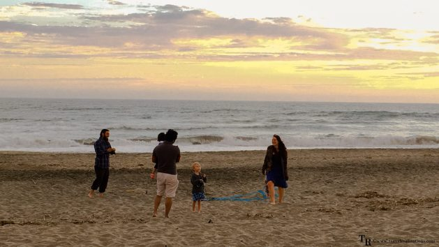 A perfect family evening in Moss Landing State Beach, California!