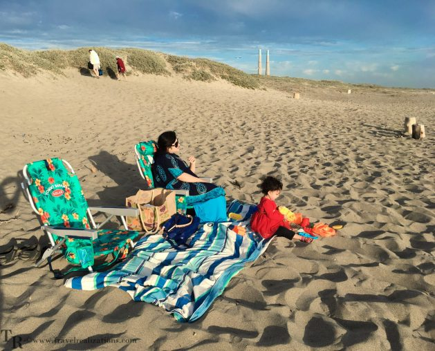 Travel Realizations, Moss Landing State Beach, California, Family Travel, A perfect family evening