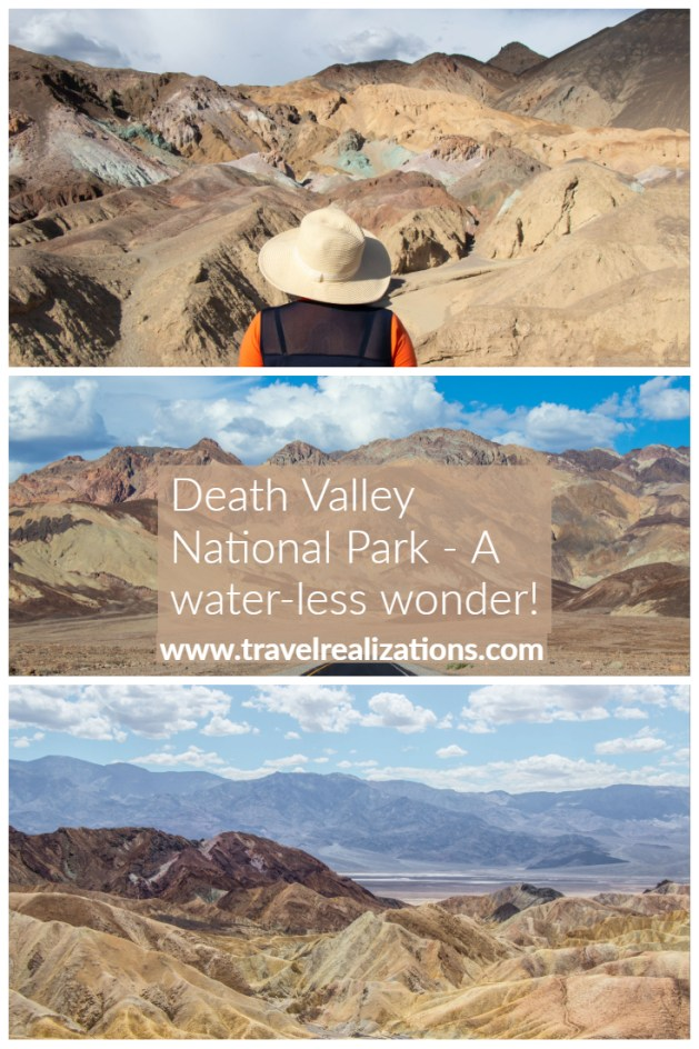 After seeing Death Valley, I named it as a water-less wonder. This landscape is interesting and has an appeal to a geologist, photographer and an artist. #DeathValley #USA #California #Traveltips #photoessay #travelblog