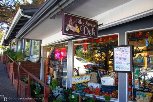 My happy and hearty moments at Hofsas House in Carmel, California, 5th Avenue Deli