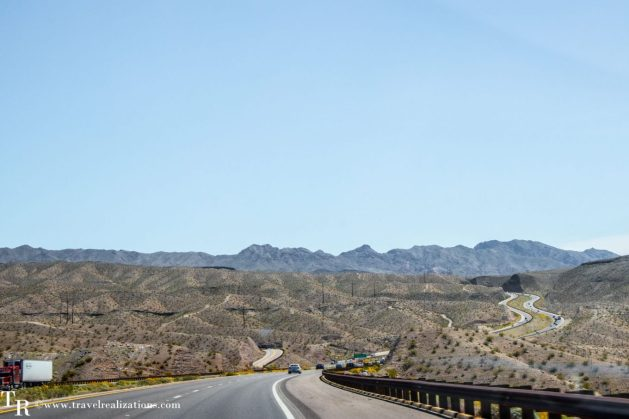 Las Vegas to Grand Canyon - journal of a journey, Travel Realizations, las vegas to grand canyon south rim, roads