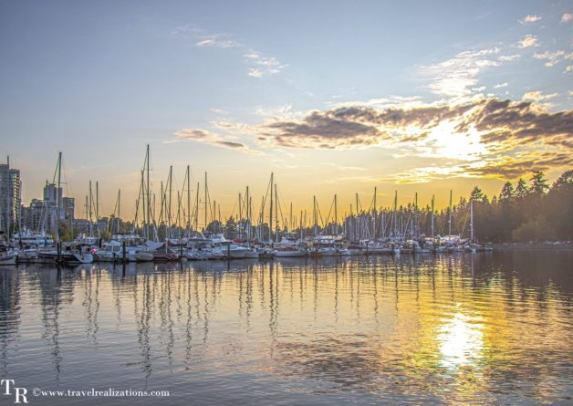 Beautiful Vignettes of  Vancouver, Travel Realizations, Stanley Park, sunset