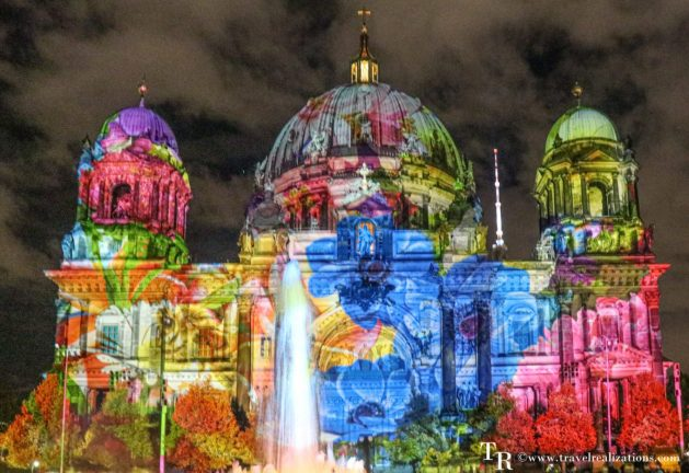 The Festival of Lights in Berlin, Germany, Travel Realizations,  Berlin Cathedral