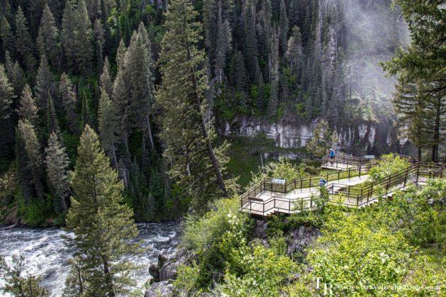 Mesa Falls in Idaho on the way to Yellowstone National Park, Travel Realizations