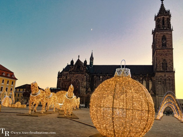 Christmas Lights in Magdeburg -one of the oldest German cities, Travel Realizations,