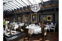 Dining room at the Telegraaf Hotel