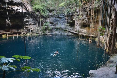 Ik Kil Cenote of Yucatan, Mexico