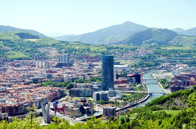 Panoramic views of Bilbao city, Bizkaia, Basque Country, Spain