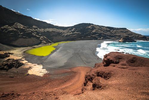 Lago Verde Green Lake El Golfo