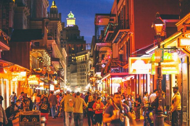 Bourbon Street nightlife.