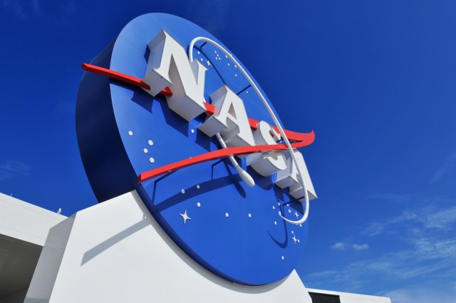 """""""Cape Canaveral, FL, USA- January 2, 2011: The NASA's Logo Signage at the Kennedy Space Center, NASA in Florida, USA."""""""
