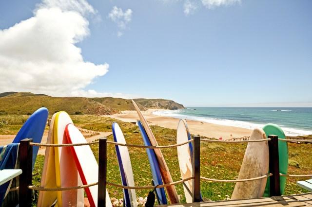 Praia do Amado, Beach and Surfer spot near Carrapateira, Algarve Portugal