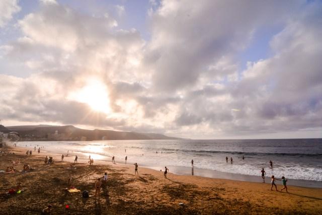 Canteras beach Las Palmas de Gran Canaria Spain