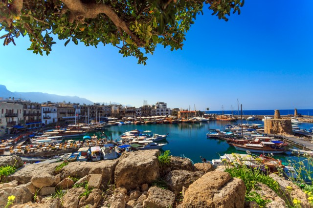 Marina in charming Kyrenia, Northern Cyprus