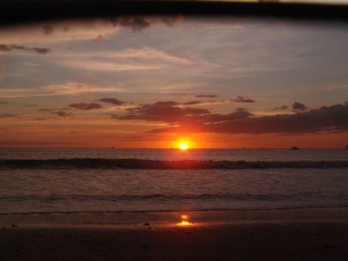 sunset at Playa Pan de Azucar