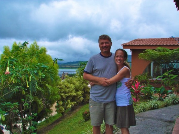 Kenda and hubby in Costa Rica -save money and space when packing