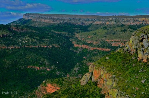 Lowveld View from Three Rondavels at Blyde River Canyon