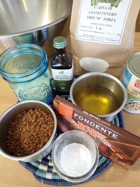 Ingredients for vegan cookies