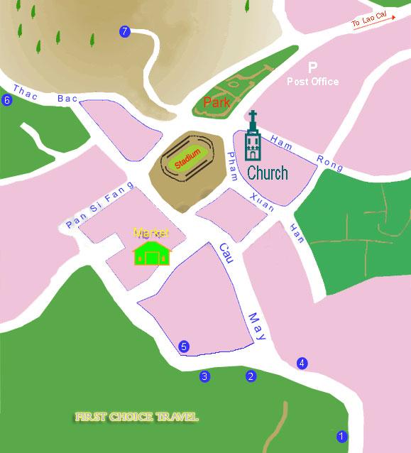 sapa maps for hotels