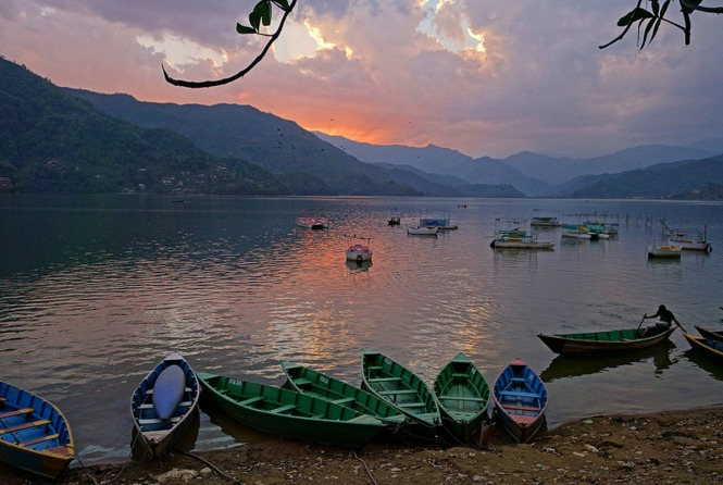 Lake Phewa in Pokhara. photo by Allie_Caulfield.flickr