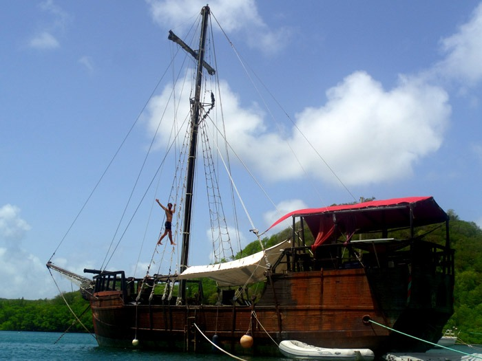 lived on an old pirate ship martinique