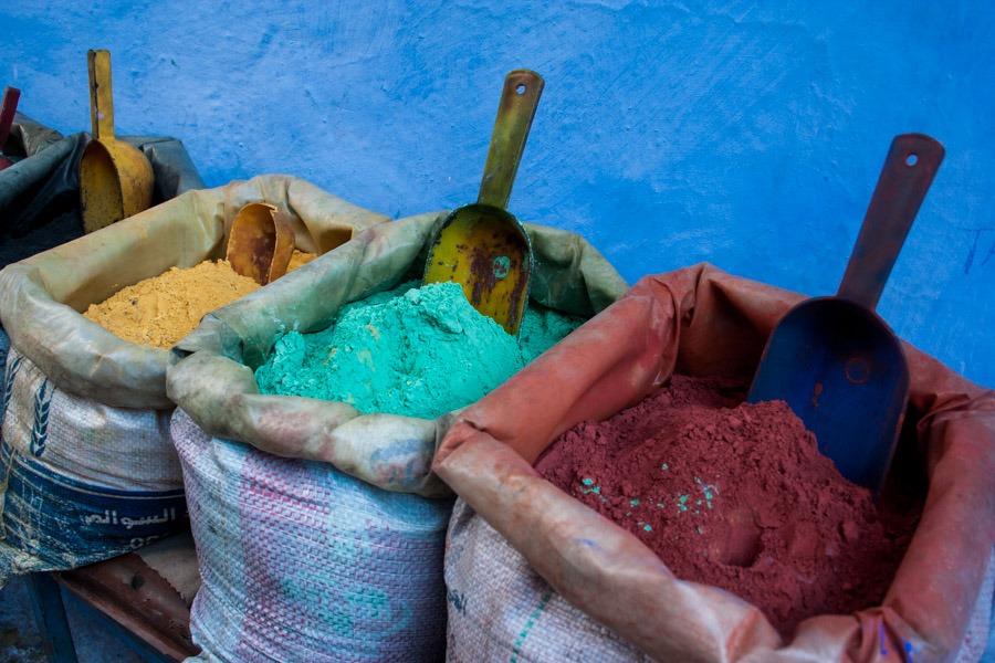 colors chaouen morocco