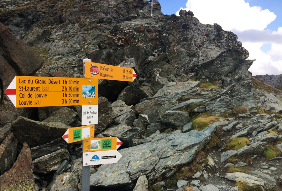 Signs at haute route