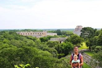 Aussicht Grosse Pyramide Uxmal