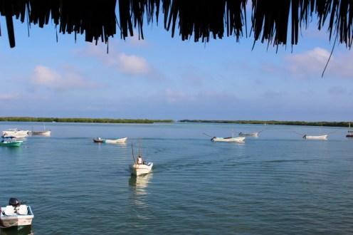 Fischerboote Rio Lagartos