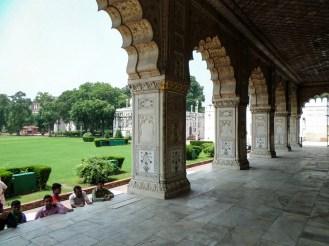 Rotes Fort in Old Delhi von innen