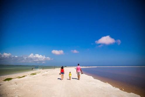 Rio Lagartos und Las Coloradas auf der Yucatán Halbinsel in Mexiko