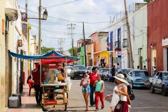 Straßenbild Valladolid Yucatan